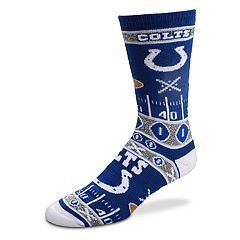 Adult For Bare Feet Indianapolis Colts Super Fan Crew Socks