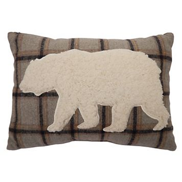 St. Nicholas Square® Bear Sherpa Fleece Oblong Throw Pillow