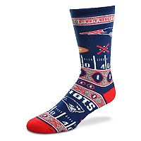 Adult For Bare Feet New England Patriots Super Fan Crew Socks