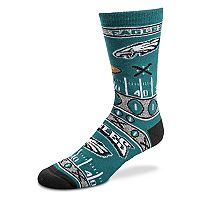 Adult For Bare Feet Philadelphia Eagles Crush Crew Socks