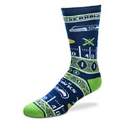 Adult For Bare Feet Seattle Seahawks Super Fan Crew Socks