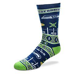 Adult For Bare Feet Seattle Seahawks Super Fan Crew Socks