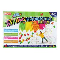 Roylco 300 pc Straws & Connectors Neon Set
