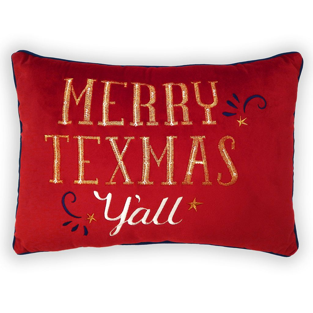 St. Nicholas Square® ''Merry Texmas'' Oblong Throw Pillow