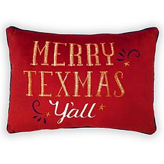 St. Nicholas Square® ''Merry Texmas'' Oblong Throw Pillow