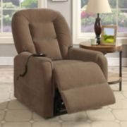 Pulaski Round Back Remote Lift Recliner Arm Chair