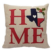 St. Nicholas Square® Texas ''Home'' Throw Pillow