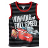 "Disney / Pixar Cars 3 Lightning McQueen & Jackson Storm Boys 4-7 ""Winning at Full Speed"" Tank Top"