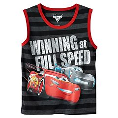 Disney / Pixar Cars 3 Lightning McQueen & Jackson Storm Boys 4-7 'Winning at Full Speed' Tank Top