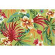 Couristan Covington Painted Fern Floral Indoor Outdoor Rug