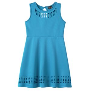 Girls 7-16 & Plus Size Lilt Laser Cut Skater Dress