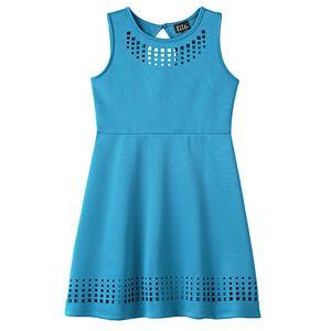 Girls 7-16 & Plus Size Lilt Laser Cut Skater Dress