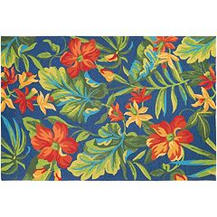 Couristan Covington Tropical Orchid Floral Indoor Outdoor Rug