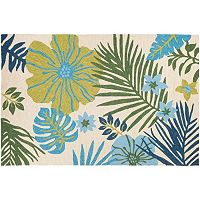 Couristan Covington Summer Laelia Floral Indoor Outdoor Rug
