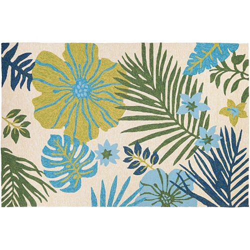 Couristan Covington Summer Laelia Floral Indoor Outdoor Rug