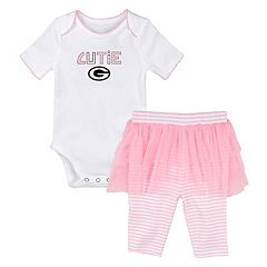 Baby Green Bay Packers Bodysuit & Legging Cutie Set