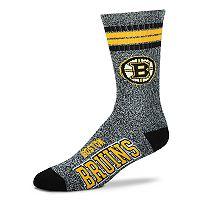 Adult For Bare Feet Boston Bruins Got Marbled Crew Socks