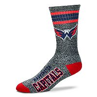 Adult For Bare Feet Washington Capitals Got Marbled Crew Socks