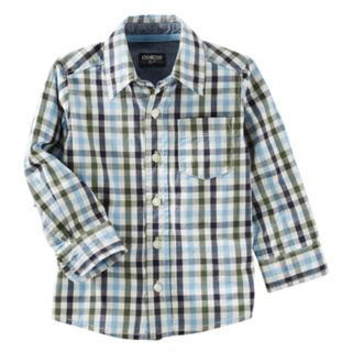 Boys 4-12 OshKosh B'gosh Plaid Button Down Shirt