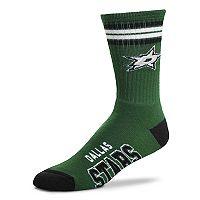 Adult For Bare Feet Dallas Stars Deuce Striped Crew Socks