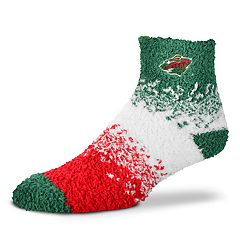 Women's For Bare Feet Minnesota Wild Marquee Sleep Socks