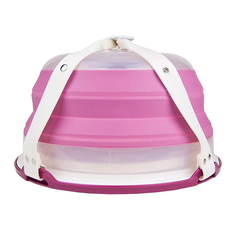 Squish Collapsible Dessert Carrier. Pink