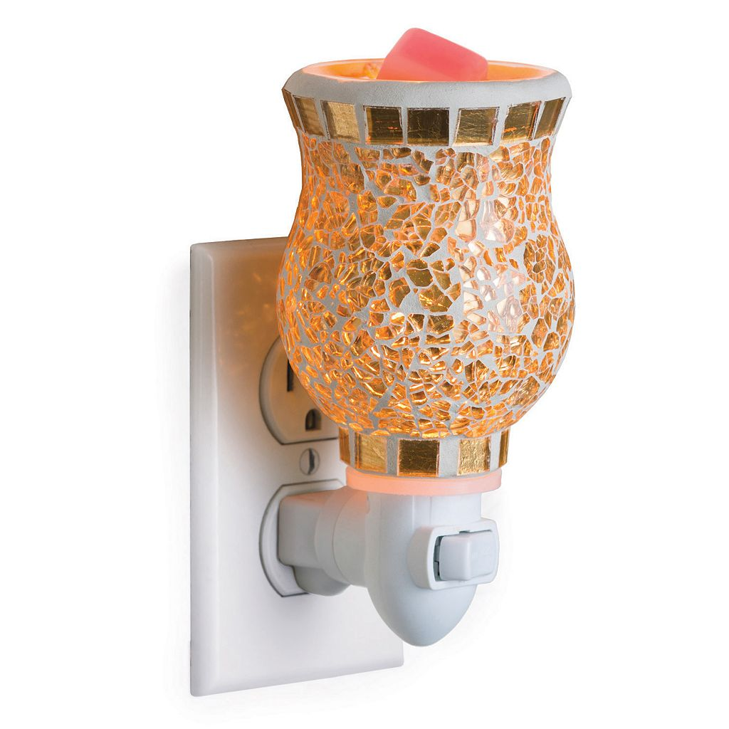 Candle Warmers Etc. Gold-Tone Mosaic Outlet Wax Melt Warmer