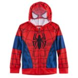 Boys 4-7 Marvel Spider-Man Mesh Face Zip Hoodie