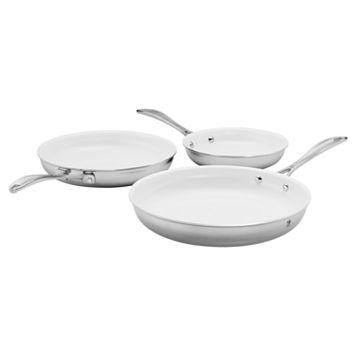 J.A. Henckels International 3-pc. Ceramic Interior Frying Pan Set