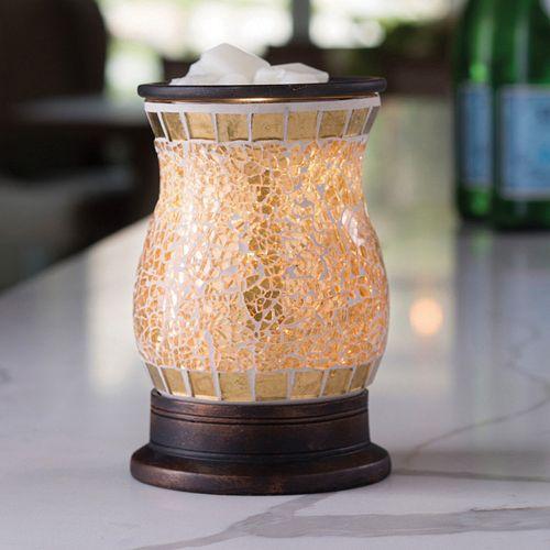 Candle Warmers Etc. Gold-Tone Mosaic Wax Melt Warmer
