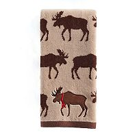 St. Nicholas Square® Through the Woods Repeat Moose Pattern Hand Towel