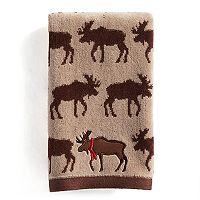 St. Nicholas Square® Through the Woods Repeat Moose Pattern Fingertip Towel
