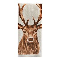 St. Nicholas Square® Through the Woods Deer Print Hand Towel
