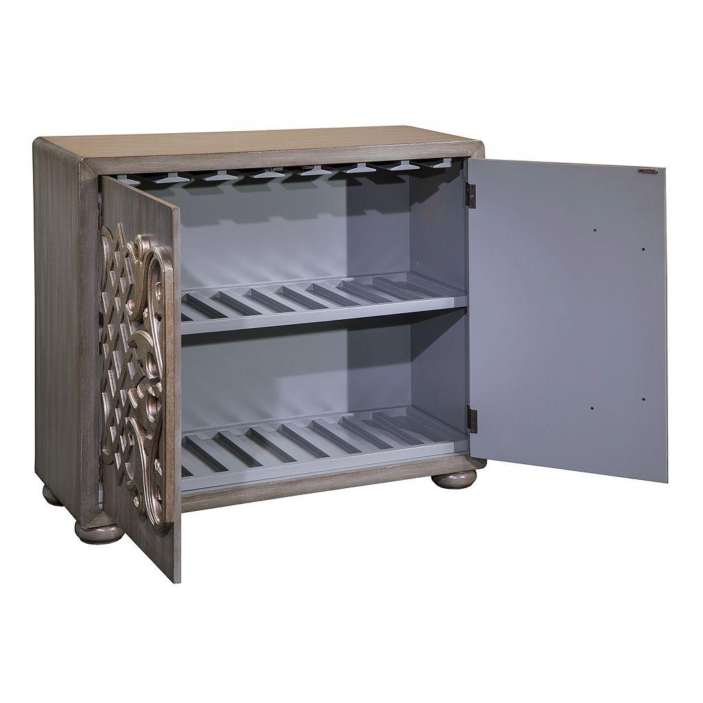 Pulaski Wine Rack Bar Storage Cabinet