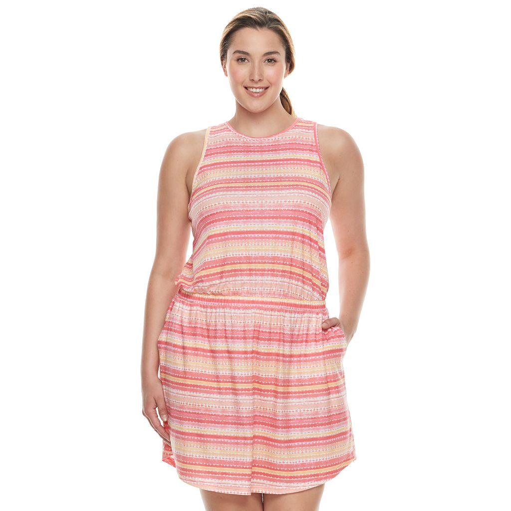 Plus Size Tek Gear® Jersey Drop-Waist Dress