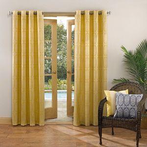 Sun Zero UV Blocking Capitol Indoor Outdoor Woven Curtain!