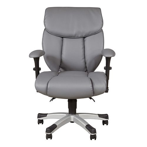 Sealy Leather Sofa: Sealy Memory Foam Faux-Leather Desk Chair