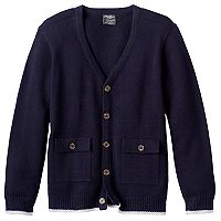 Boys 4-16 Eddie Bauer Solid Cardigan Sweater