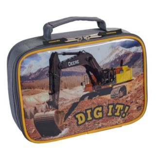 "Boys John Deere ""Dig It!"" Photoreal Excavator Insulated Lunchbox"