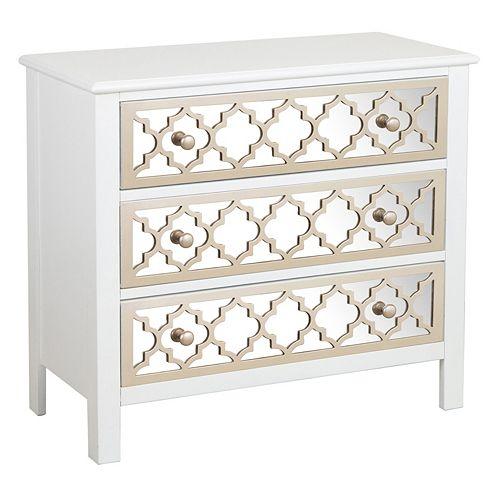 Pulaski Moroccan Mirrored 3-Drawer Dresser