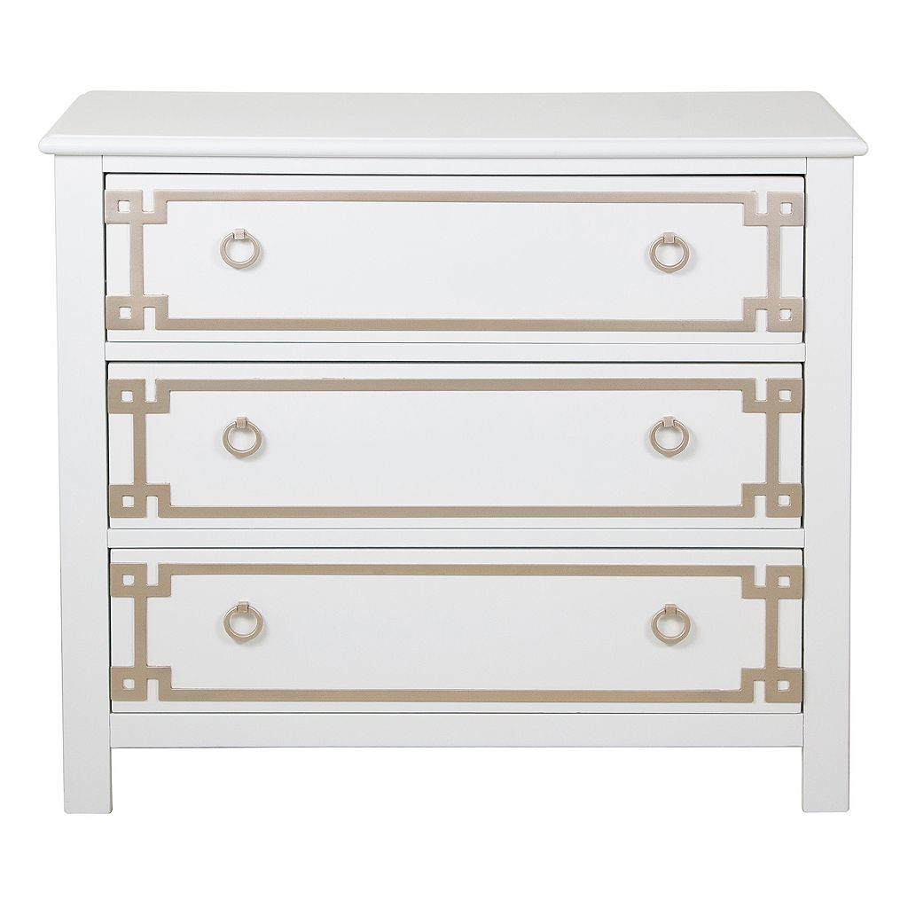 Pulaski Greek Key 3-Drawer Dresser