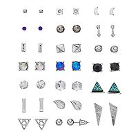 Mudd® Triangular, Arrow & Leaf Nickel Free Stud Earring Set