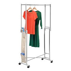 Honey-Can-Do Double Folding Tube Garmet Rack