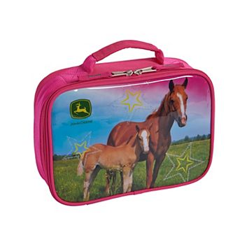 Girls John Deere Photoreal Horse Insulated Lunchbox