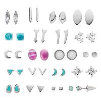 Mudd® Crescent, Arrow & Star Nickel Free Stud Earring Set