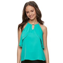 Juniors' Lily Rose Flutter Halter Top
