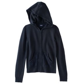 Girls 7-16 Chaps Lace Hooded Sweater