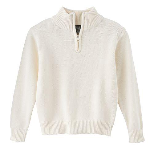 Boys 4 16 Eddie Bauer Quarter Zip Sweater