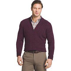 Men's Van Heusen Regular-Fit Cable-Knit Quarter-Zip Sweater