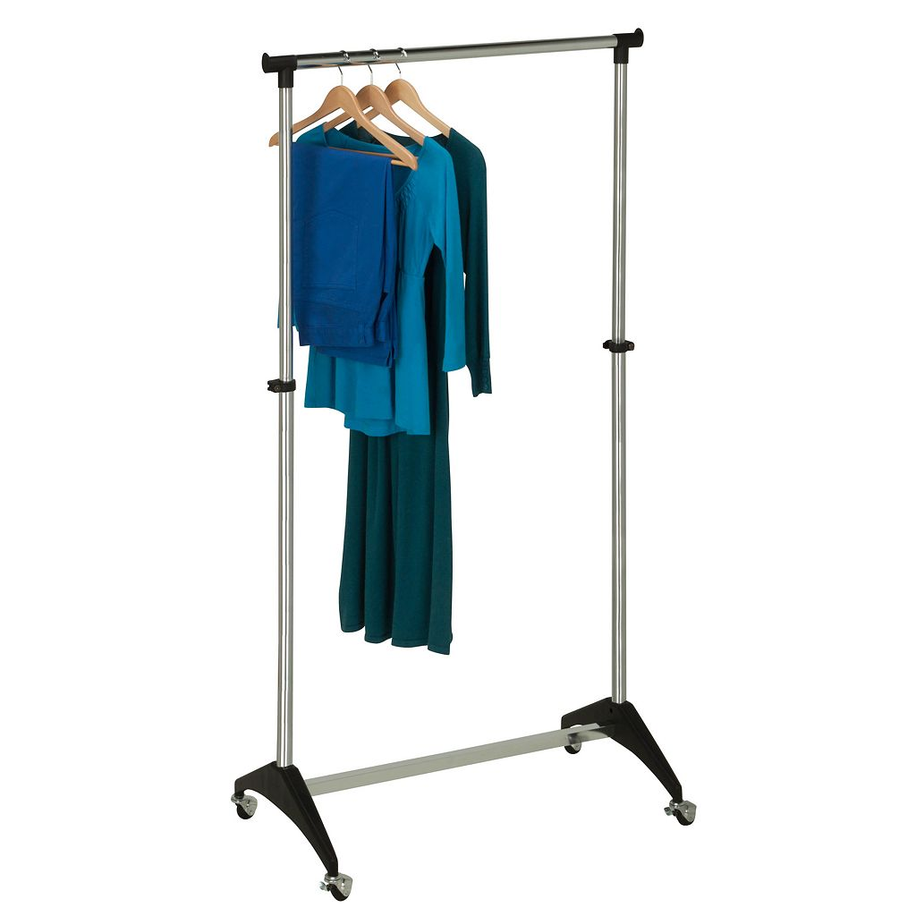 Honey-Can-Do Adjustable Rolling Garment Rack